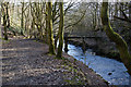 SD7212 : Footbridge over Eagley Brook by Ian Greig