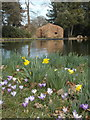 ST3504 : Forde Abbey: the Great Pond and beech house by Chris Downer