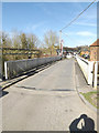 SU5766 : Woolhampton Swing Bridge on Station Road by Adrian Cable