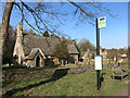 SU4399 : St Lawrence's Church Bus Stop by Des Blenkinsopp