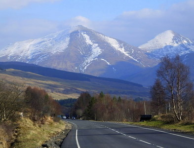 NN3329 : On the A82, approaching Tyndrum by sylvia duckworth