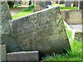 SK6929 : Hickling Churchyard - Belvoir Angel headstone : Week 13