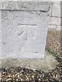 Dist:0.3km<br/>This OS cut mark can be found on the east face of St John the Evangelist's Church. It marks a point 9.863m above mean sea level.