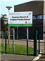 TM3289 : Earsham Church of England Primary School sign by Adrian Cable