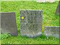 SK6929 : Hickling Churchyard - Belvoir Angel headstone by Alan Murray-Rust