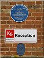 Photo of Eve Balfour, Alice Debenham, and Soil Association blue plaque