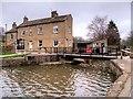SE1040 : Swing Bridge at the Top of Bingley Five-Rise Locks by David Dixon