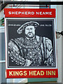 TQ8790 : Inn sign, Kings Head Inn, Rochford by Robin Webster