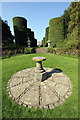 SJ6780 : Sundial Circle at Arley Hall by Jeff Buck