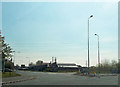SJ3671 : A540 at roundabout off M56 by John Firth