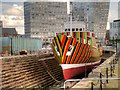 SJ3489 : Dazzle Ship, Canning Graving Dock : Week 17
