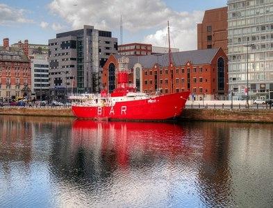 SJ3490 : The MerseyPlanet Lightship, Canning Dock by David Dixon