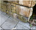 SJ9495 : Cut Benchmark, Manchester Road, Hyde by Gerald England