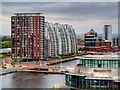 SJ8097 : City Lofts and NV Buildings, Salford Quays by David Dixon