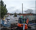 SJ3863 : Roadworks, Greenlane crossing by N Chadwick