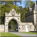 SJ4856 : Gate to Bolesworth Castle at Chowley Lodge by David Smith