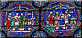 TR1557 : The cure of Robert of Cricklade, Stained glass, Canterbury Cathedral by Julian P Guffogg