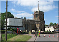 TL2452 : Gamlingay: St Mary's Church under repair by John Sutton