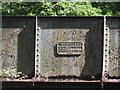 TL1341 : Plaque on bridge over disuse railway line by Bikeboy