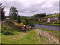 NJ8715 : Steep ascent from river bank at Cothal Pool by Stanley Howe