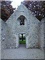 NJ8715 : East end gable (interior) of St Fergus Church by Stanley Howe