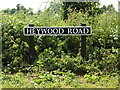TM1180 : Heywood Road sign by Adrian Cable