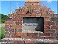 TL0343 : Inscription on brick monument (2) by Bikeboy