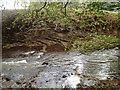 SJ9665 : Sloping strata, river rapids, above Danebridge by Robin Stott