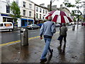 H4572 : Back to the rain, High Street, Omagh by Kenneth  Allen