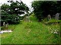 SN3608 : Hillside graveyard, St Ishmael by Jaggery