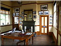 TG1141 : Inside the booking hall at Weybourne station : Week 28