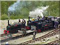 NY3224 : Threlkeld Quarry & Mining Museum - the train now arriving! by Chris Allen