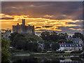 NU2405 : Warkworth Castle Sunset : Week 30