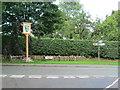 SJ8870 : Gawsworth Village Sign by David Weston