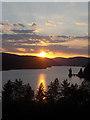SJ0119 : Sunset over Lake Vyrnwy : Week 33