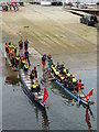 SW8132 : Teams preparing to launch in the Falmouth Dragon Boat Race 2015 by Rod Allday