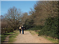 SP1095 : Hand in hand in April sunshine – Bank Holiday stroll by Holly Hurst, Sutton Park by Robin Stott