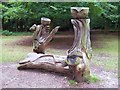 SU9584 : Wooden Sculptures, Burnham Beeches by Len Williams