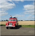 TM3295 : Fire engine at Seething Airfield by Evelyn Simak