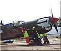 TM3195 : Curtiss P-40M Kittyhawk fighter aircraft by Evelyn Simak