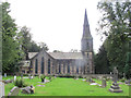 SE3337 : Former St John's church, Roundhay and north churchyard by Stephen Craven