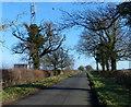SP6292 : Communications mast along Fleckney Road by Mat Fascione