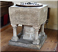 TL5249 : St Mary, Little Abington - Font by John Salmon