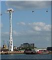TQ3980 : Cable car at Greenwich Peninsula : Week 39 winner