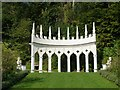 SO8610 : Painswick Rococo Gardens - The Exedra - front view by Rob Farrow