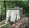 SO8610 : Painswick Rococo Gardens - Rear of Gothic Seat by Rob Farrow