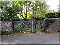 SO2603 : Inwardly sloping barrier across Glansychan Lane, Abersychan by Jaggery