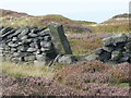 SE0711 : Boundary stone on Deer Hill, Meltham by Humphrey Bolton