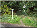 TL1206 : Public footpath near St Albans by Malc McDonald