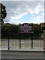 TQ6395 : Hutton Recreation Grounds sign by Adrian Cable